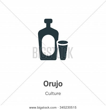 Orujo icon isolated on white background from culture collection. Orujo icon trendy and modern Orujo