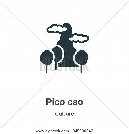Pico cao icon isolated on white background from culture collection. Pico cao icon trendy and modern