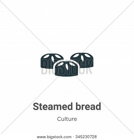 Steamed bread icon isolated on white background from culture collection. Steamed bread icon trendy a