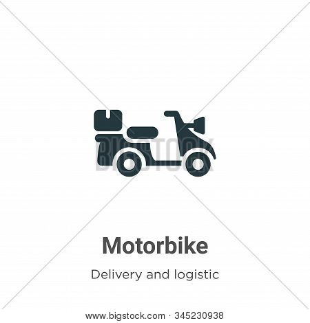 Motorbike Vector Icon On White Background. Flat Vector Motorbike Icon Symbol Sign From Modern Delive
