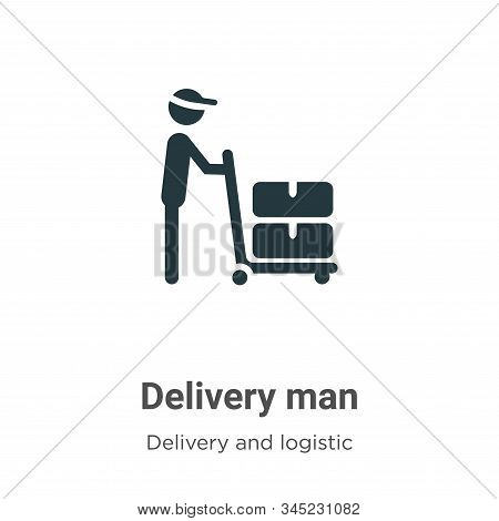 Delivery man icon isolated on white background from delivery and logistic collection. Delivery man i