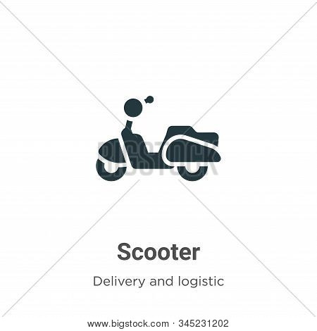 Scooter icon isolated on white background from delivery and logistic collection. Scooter icon trendy