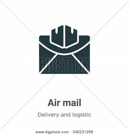 Air mail icon isolated on white background from delivery and logistic collection. Air mail icon tren