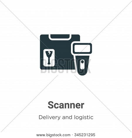 Scanner Vector Icon On White Background. Flat Vector Scanner Icon Symbol Sign From Modern Delivery A