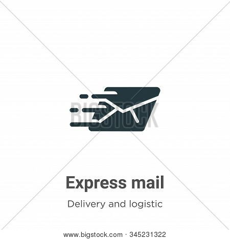 Express mail icon isolated on white background from delivery and logistic collection. Express mail i