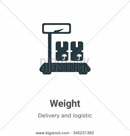 Weight icon isolated on white background from delivery and logistic collection. Weight icon trendy a