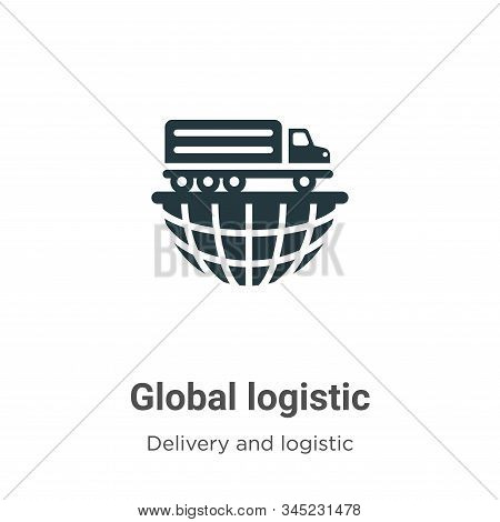 Global logistic icon isolated on white background from delivery and logistics collection. Global log