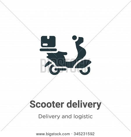 Scooter delivery icon isolated on white background from delivery and logistics collection. Scooter d