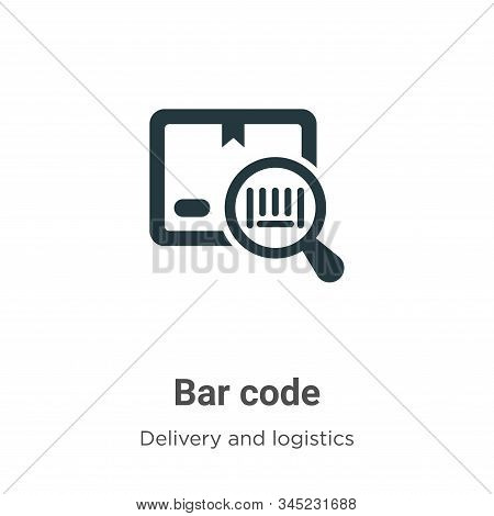 Bar code icon isolated on white background from delivery and logistics collection. Bar code icon tre