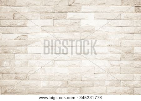 Cream And White Wall Texture Background, Brick Stone Pattern Modern Decor Home And Vintage Stonework