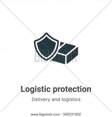 Logistic Protection Vector Icon On White Background. Flat Vector Logistic Protection Icon Symbol Sig