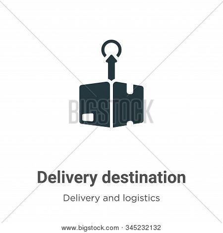 Delivery destination icon isolated on white background from delivery and logistics collection. Deliv
