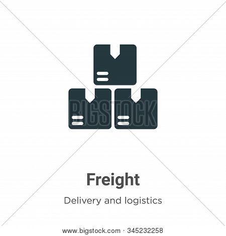 Freight Vector Icon On White Background. Flat Vector Freight Icon Symbol Sign From Modern Delivery A
