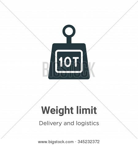Weight limit icon isolated on white background from delivery and logistics collection. Weight limit