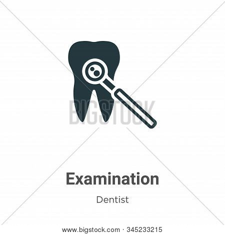 Examination Vector Icon On White Background. Flat Vector Examination Icon Symbol Sign From Modern De