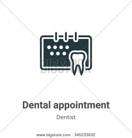 Dental Appointment Vector Icon On White Background. Flat Vector Dental Appointment Icon Symbol Sign