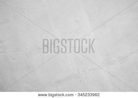 White Concrete Wall For Interior Or Outdoor Exposed Surface Polished. Cement Have Sand And Stone Of