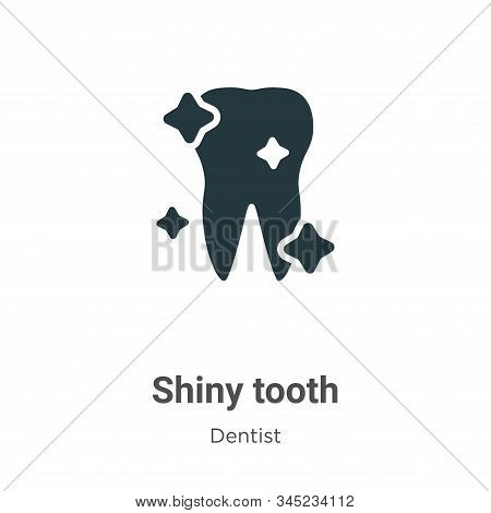 Shiny tooth icon isolated on white background from dentist collection. Shiny tooth icon trendy and m