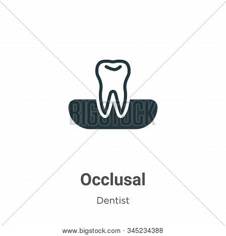 Occlusal Vector Icon On White Background. Flat Vector Occlusal Icon Symbol Sign From Modern Dentist