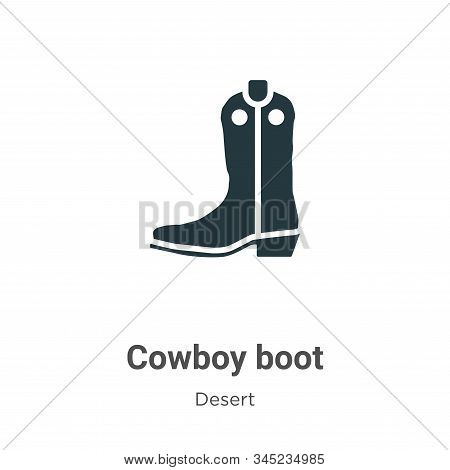 Cowboy boot icon isolated on white background from desert collection. Cowboy boot icon trendy and mo