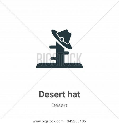 Desert hat icon isolated on white background from desert collection. Desert hat icon trendy and mode