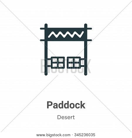 Paddock Vector Icon On White Background. Flat Vector Paddock Icon Symbol Sign From Modern Desert Col