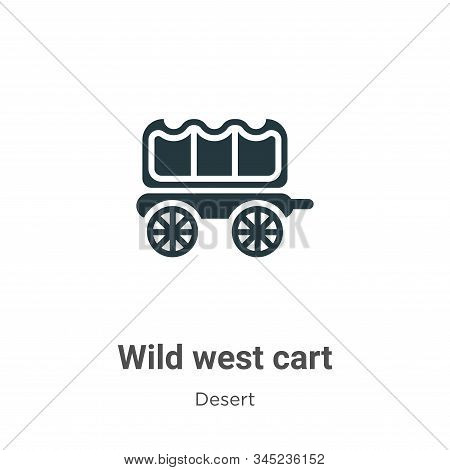 Wild west cart icon isolated on white background from desert collection. Wild west cart icon trendy