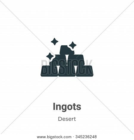 Ingots icon isolated on white background from wild west collection. Ingots icon trendy and modern In