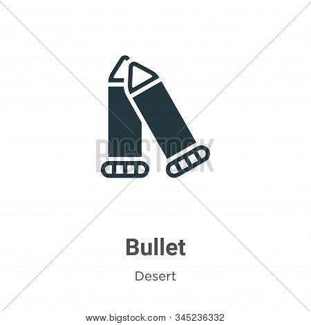 Bullet icon isolated on white background from wild west collection. Bullet icon trendy and modern Bu