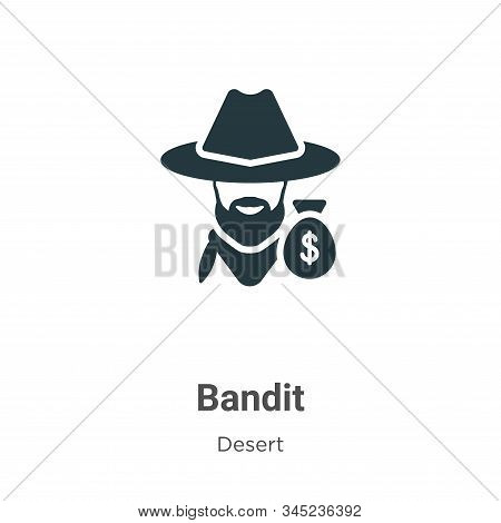 Bandit icon isolated on white background from wild west collection. Bandit icon trendy and modern Ba