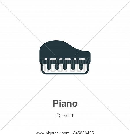 Piano icon isolated on white background from wild west collection. Piano icon trendy and modern Pian
