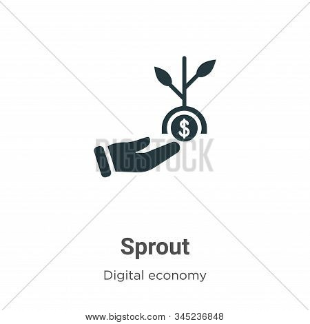 Sprout icon isolated on white background from digital economy collection. Sprout icon trendy and mod