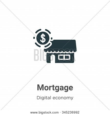 Mortgage Vector Icon On White Background. Flat Vector Mortgage Icon Symbol Sign From Modern Digital