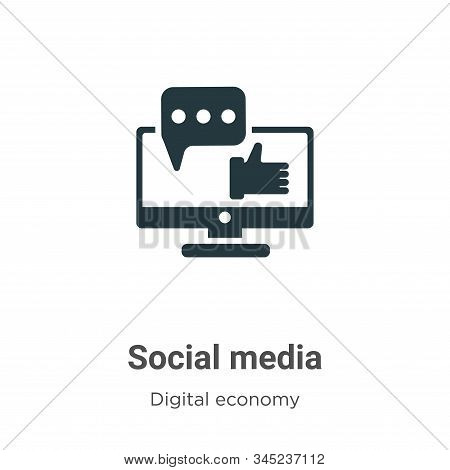 Social media icon isolated on white background from digital economy collection. Social media icon tr