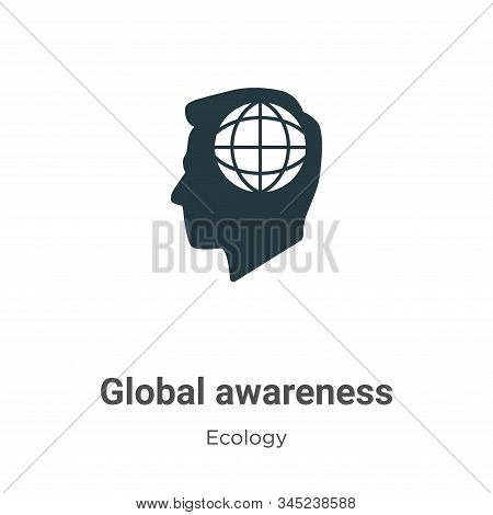 Global awareness icon isolated on white background from ecology collection. Global awareness icon tr