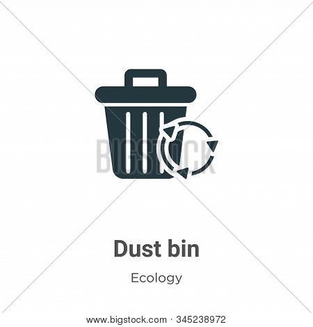 Dust bin icon isolated on white background from ecology collection. Dust bin icon trendy and modern