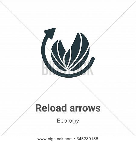 Reload arrows icon isolated on white background from ecology collection. Reload arrows icon trendy a