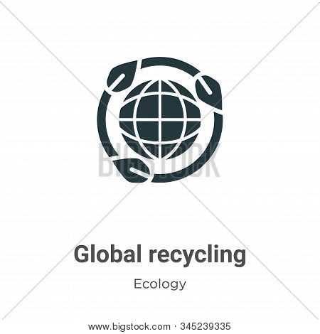 Global recycling symbol icon isolated on white background from ecology collection. Global recycling