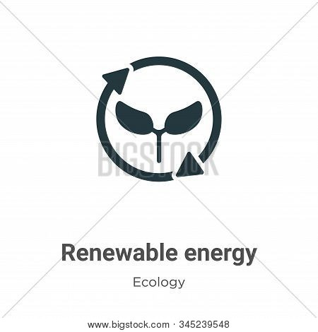 Renewable energy icon isolated on white background from ecology collection. Renewable energy icon tr