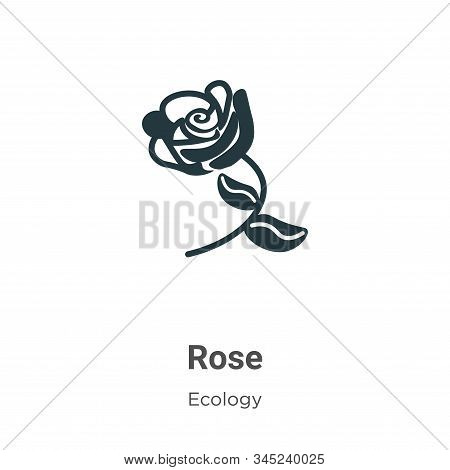 Rose icon isolated on white background from ecology collection. Rose icon trendy and modern Rose sym