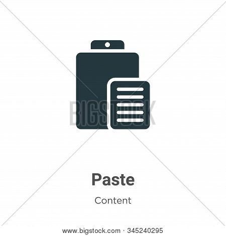 Paste icon isolated on white background from content collection. Paste icon trendy and modern Paste