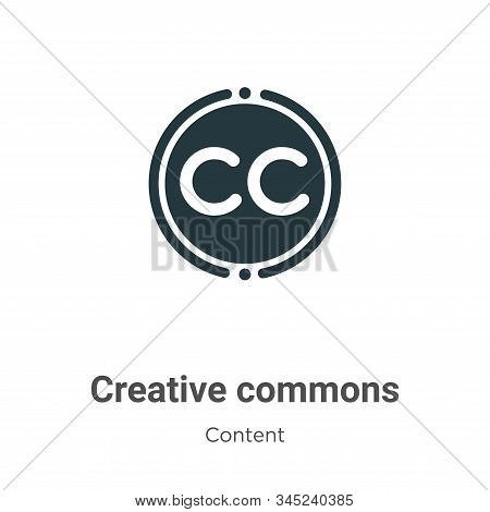 Creative commons icon isolated on white background from content collection. Creative commons icon tr