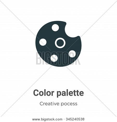 Color palette icon isolated on white background from creative pocess collection. Color palette icon