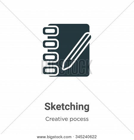 Sketching icon isolated on white background from creative pocess collection. Sketching icon trendy a