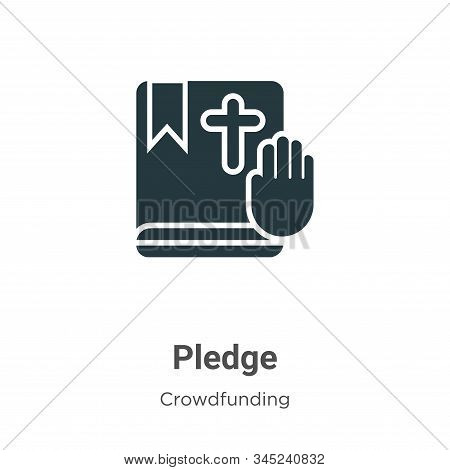 Pledge icon isolated on white background from crowdfunding collection. Pledge icon trendy and modern