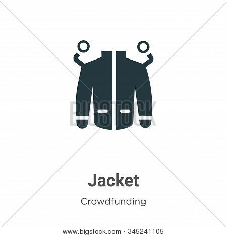 Jacket Vector Icon On White Background. Flat Vector Jacket Icon Symbol Sign From Modern Crowdfunding