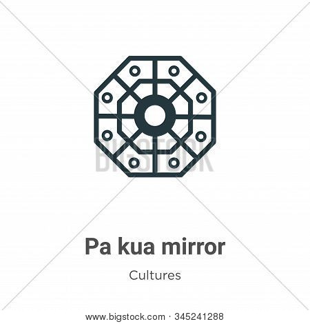 Pa kua mirror icon isolated on white background from cultures collection. Pa kua mirror icon trendy