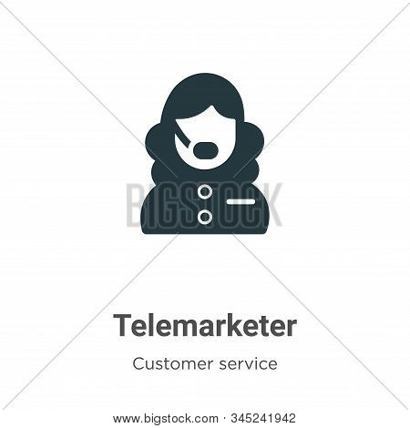 Telemarketer icon isolated on white background from customer service collection. Telemarketer icon t