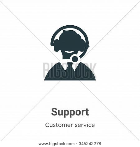 Support icon isolated on white background from customer service collection. Support icon trendy and