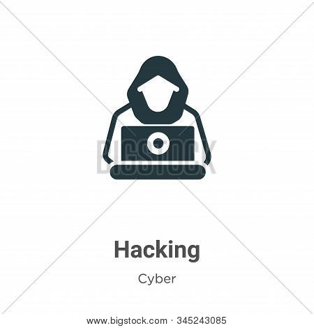 Hacking icon isolated on white background from cyber collection. Hacking icon trendy and modern Hack